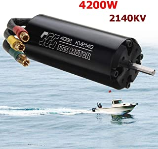 TFL Hobby SSS 4092/2140KV 4200W 90% Efficiency Electric Brushless Motor 4 Poles for RC Boats (1800KV)