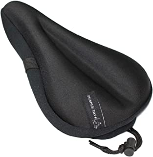 Temple Tape Ultra Gel Bike Seat Cushion - Extra Soft Bicycle Saddle Cover for Spin, Exercise Stationary Bikes and Outdoor ...