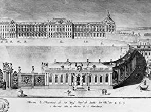 Catherine Palace 1761 Nright Panel Of A Panoramic Engraving Of The Catherine Palace The Summer Residence Of Russian Tsars In Tsarskoye Selo Near St Petersburg Russia Line Engraving 1761 Poster Print b