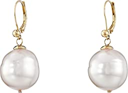 Majorica - 16mm Baroque Pearl Eurowire Earrings