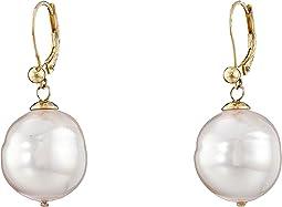 16mm Baroque Pearl Eurowire Earrings