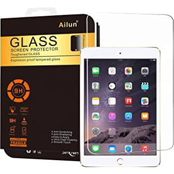 Ailun Screen Protector for iPad Mini 1 2 3 Gen Tempered Glass 1Pack Compatible with Apple iPad Mini 1 2 3 Generation 2.5D Edge Ultra Clear Anti-Scratch Case Friendly Not for Mini 4