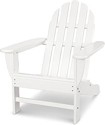 Magnificent Amazon Com Polywood Ad5030Wh Classic Folding Adirondack Spiritservingveterans Wood Chair Design Ideas Spiritservingveteransorg