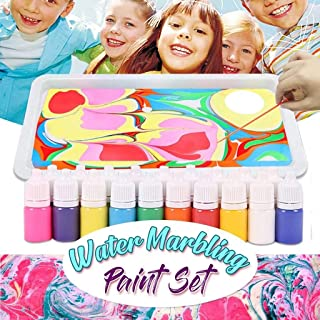 Dolloress Marbling Painting Kit with 6X Marbling Inks 6ml Each Creative Marbling Art Painting on Water for Children
