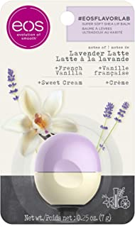 eos flavorlab Sphere Lip Balm - Lavender Latte   Deeply Hydrates and Seals in Moisture   0.25 oz