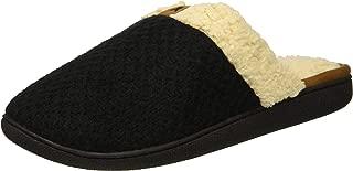 Women's Wide Width Textured Knit Closed Toe Scuff Slipper