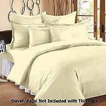 "Linenwalas All Season 100% Anti-Pilling 310 TC Cotton Stripes Duvet/Quilt/Comforter Cover - Ivory - 60"" X 90"""