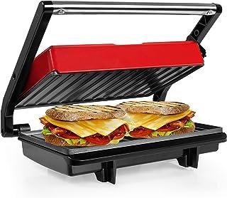 Gotoll Panini Grill électrique, Plancha et Appareil à Sandwich Presses à Panini, Plaques anti-adhésives, Surface 23 x 14,5...