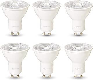 AmazonBasics Commercial Grade LED Light Bulb | 50-Watt Equivalentt, GU10, Warm White, Dimmable, 6-Pack