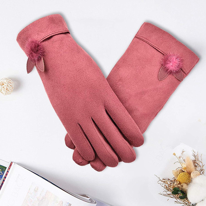 Women Winter Gloves Ladies Girls Outdoor Heat Full Finger Lined Driving Glove