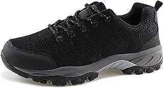 حذاء JABASIC نسائي للمشي لمسافات طويلة شبكي مسامي رياضي في الهواء الطلق (أسود) رمادي، 8)