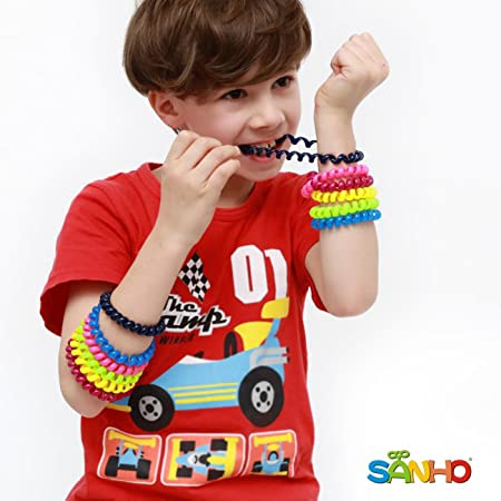 SANHO Chewable Jewelry Coil Bracelet Set- Speech and Communication Aid for Autism and Sensory, Assorted Colors (Pack of 12)