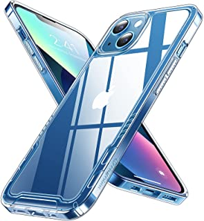 Humixx Crystal Clear Compatible with iPhone 13 Case [Not Yellowing] [Military Grade Drop Tested] [Non-Slip Design] Hard PC...