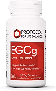 Protocol For Life Balance - EGCg - Green Tea Extract Supports Cellular Health, Supports Brain Function, Natural Energy Boo...
