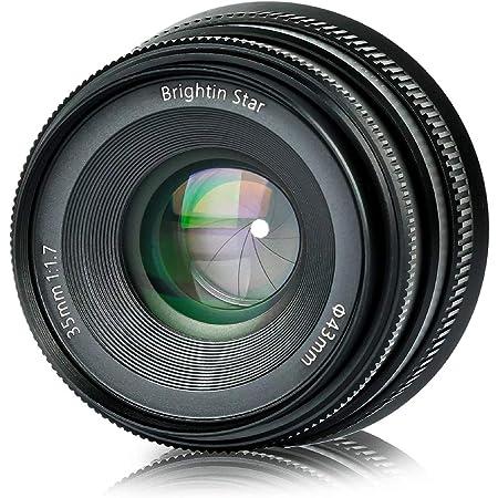 Brightin Star 35mm F1.2 APS-C Large Aperture Manual Focus Prime Lens for Fuji FX-Mount Mirrorless Cameras Black