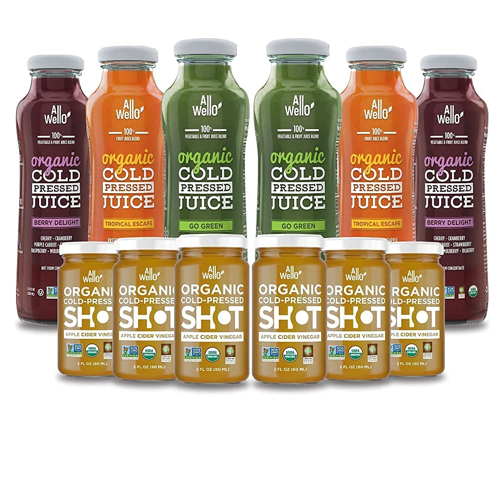 ALLWELLO Organic Cold NEW Pressed Max 50% OFF Mix Drinks 6 wi pack Juice