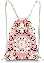 Miomao Rucksack mit Kordelzug, Dahlien-Stil, Blumensack, Segeltuch, Strandtasche für Damen und Herren