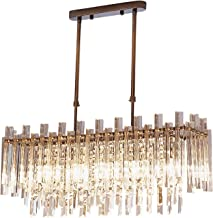 Modern Crystal Chandelier For Dining Room Rectangle Home Decoration Lighting Fixtures LED Crystal Chandeliers