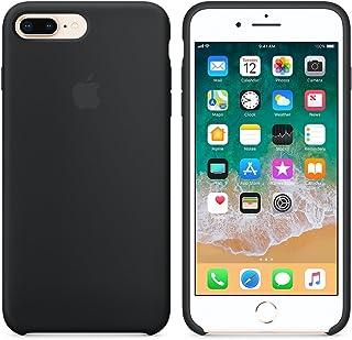 Funda para iPhone 7Plus/8Plus 5,5Inch Carcasa Silicona Suave Colores del Caramelo con Superfino Pelusa Forro, para Apple iPhone 7Plus/8Plus (Negro)