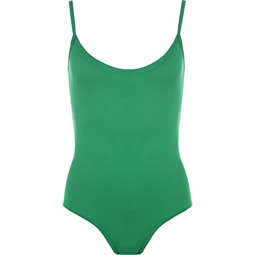 16d46e398f WearAll Womens Strappy Sleeveless Ladies Camisole Vest Bodysuit Leotard Top  - 8-14