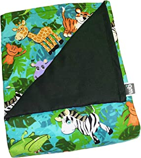 WEIGHTED BLANKETS PLUS LLC - CHILD SMALL WEIGHTED BLANKET - JUNGLE - COTTON/FLANNEL (48