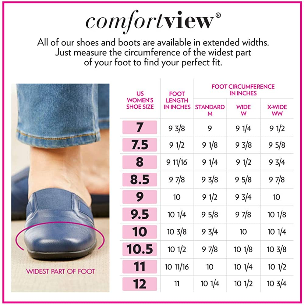 Comfortview Womens Wide Width The Storm All-Weather Shoe