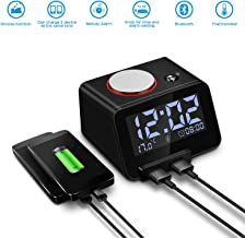 Homtime Alarm Clock with Bluetooth & Charger: Dual USB Charging & Bluetooth Speaker - 3.2