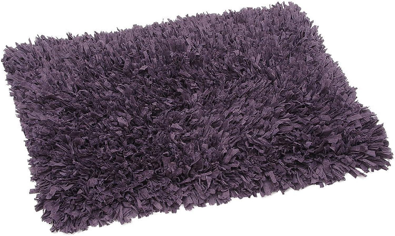FHE Group Tissue Rug Bath Mat, 45 by 27 Inches, Purple