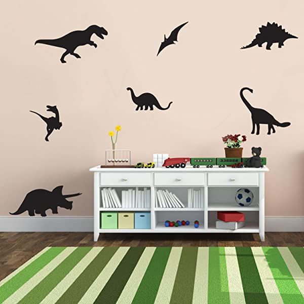 7 Pack Dinosaurs Vinyl Wall Art Stickers 5 X 12 Boy S Room Wall Decor Cute Vinyl Sticker Decals Nursery Room Dino Decorations