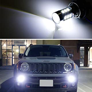 iJDMTOY (2) 6500K White 15-SMD LED Daytime Running Light Bulbs For 2015-2018 Jeep Renegade