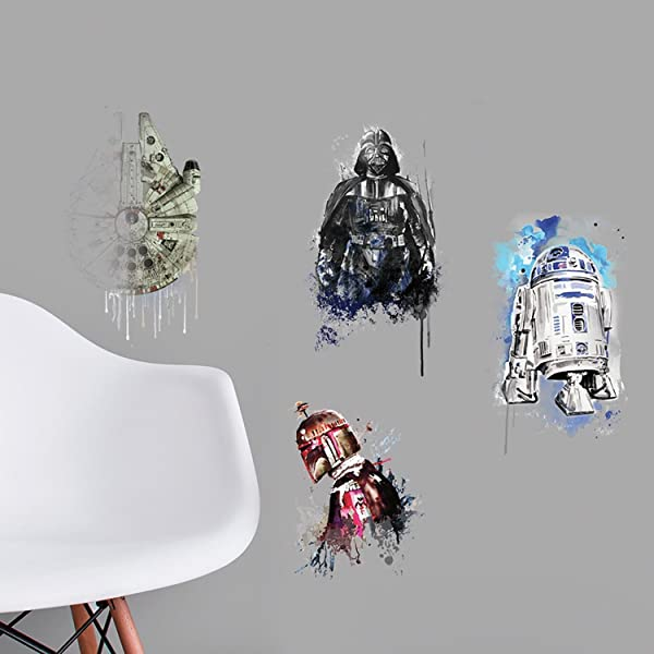 RoomMates Star Wars Iconic Watercolor Peel And Stick Wall Decals
