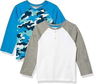 Amazon Essentials 2-Pack Boys Long-Sleeve Henley Shirt
