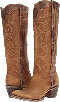 GESA Sculptured Heel Western Cowboy Knee High Boots