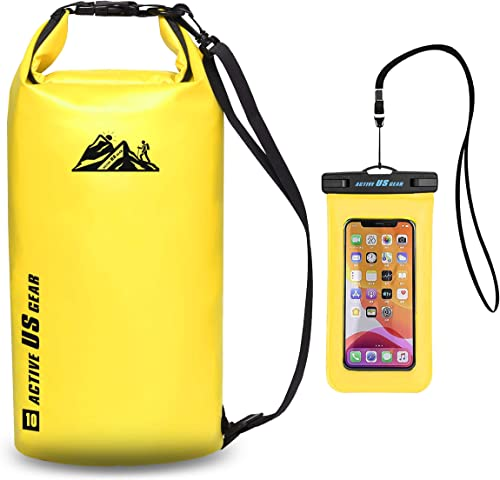 Active US Gear Dry Bag Set – Heavy-Duty Waterproof Floating Pack with Touch-Friendly Phone Case and Waist Pouch - Lig...
