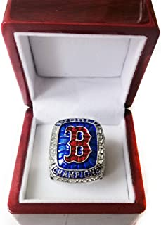 Nine Culture Red Sox (Steve Pearce) 2018 Replica Baseball Championship Ring Super Bowl Collectible Gift Fashion Size 8-13 with A Wooden Box