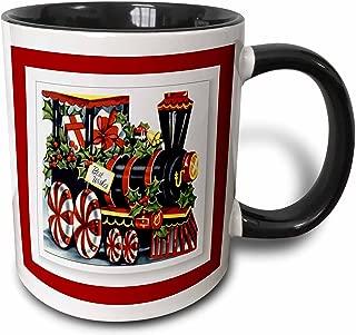 3dRose 26680_4 Christmas Train Mug, 11 oz, Multicolor