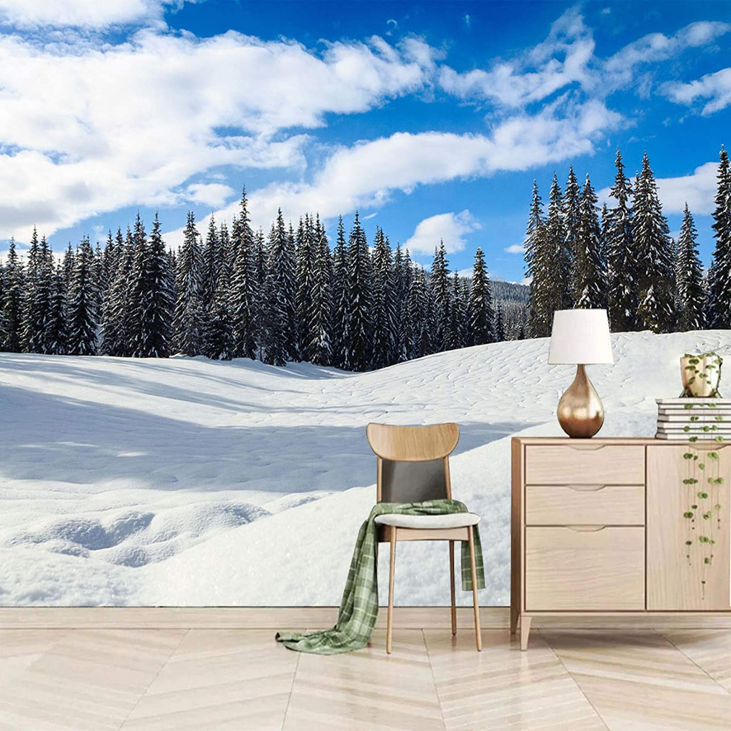 XiaoCha Snow Plants Year-end annual account Forests Challenge the lowest price of Japan ☆ Scenery Sticke 3D Self-Adhesive Wall