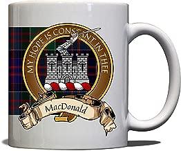 MacDonald Scottish Clan Crest Motto Clanranald Tartan Mug