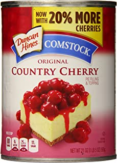Comstock Original Country Pie Filling & Topping, Cherry, (Pack of 8)