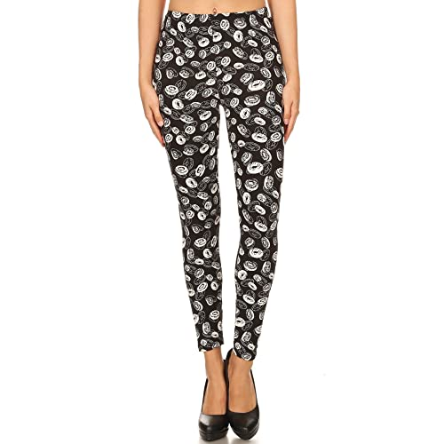 6bb54972aa6b7d iZZYZX Women's Popular Skulls Characters Printed Leggings Regular Plus (Women  2~20) -