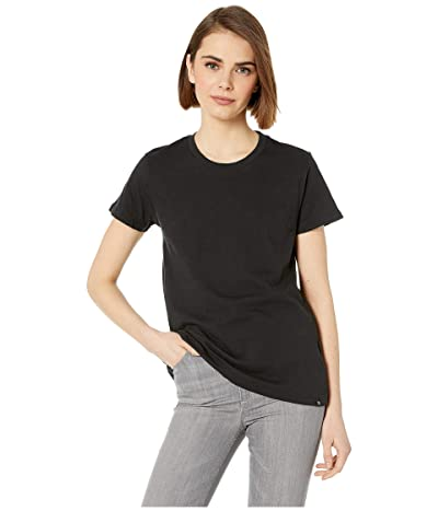 Hurley Solid Perfect Crew T-Shirt Short Sleeve (Black) Women