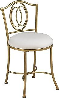 Hillsdale Furniture Emerson Metal Vanity Stool, Golden Bronze