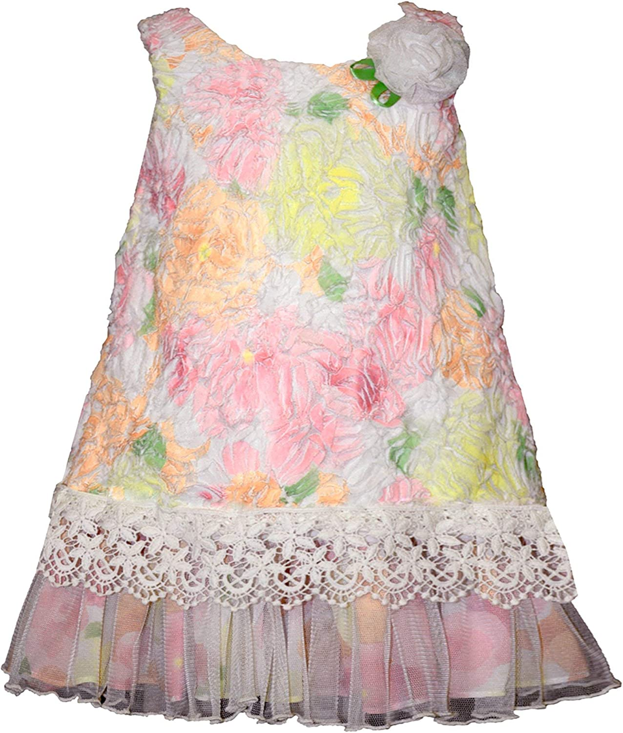 Bonnie NEW before selling ☆ Jean Baby-Toddler-Little Girls Flounce Party 4 years warranty Dress