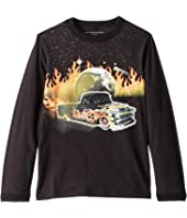 Stella McCartney Kids - Gene Fire Car Long Sleeve Jersey Tee (Toddler/Little Kids/Big Kids)