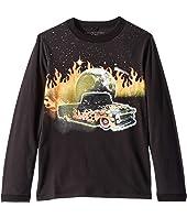 Stella McCartney Kids - Gene Fire Car Long Sleeve Jersey Tee (Toddler/Little Kids/Big Kids)
