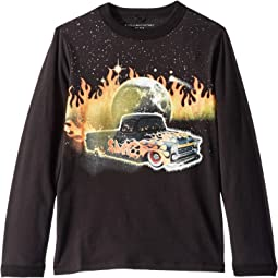 Gene Fire Car Long Sleeve Jersey Tee (Toddler/Little Kids/Big Kids)
