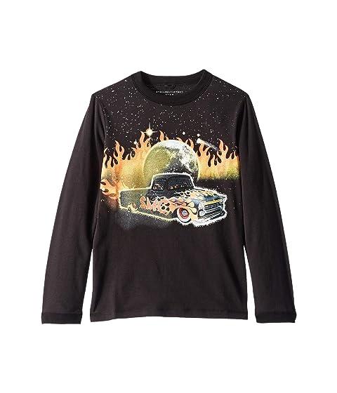 Stella McCartney Kids Gene Fire Car Long Sleeve Jersey Tee (Toddler/Little Kids/Big Kids)