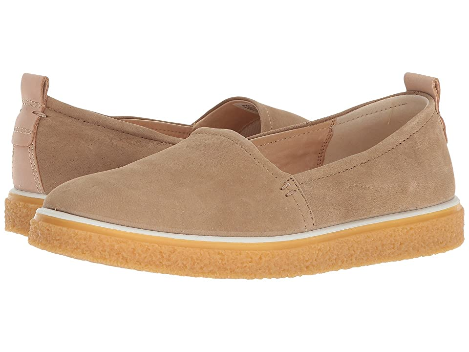 ECCO Crepetray Slip-On (Navajo Brown Camel Nubuck) Women