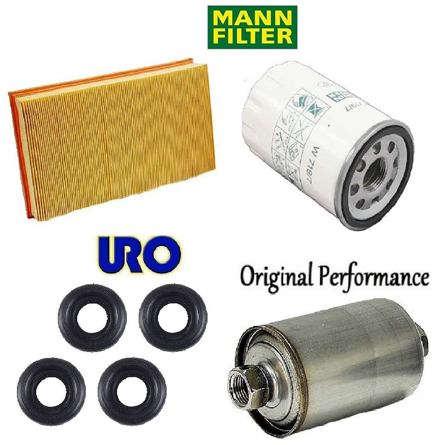 Tune Up Kit Air Oil Fuel Filters Cover Bolts for Jaguar XK8 Base; V8; 4.0L; 3996cc; GAS; Naturally Aspirated; FI; AJV8 Eng.; Eng. VIN 2; For Center Bolts of Valve Cover 1998