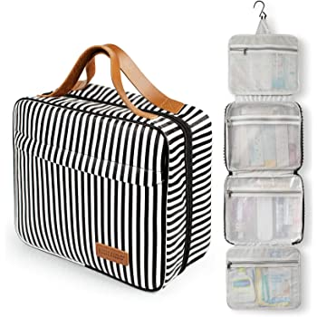 Toiletry Bag, WDLHQC Travel Hanging Makeup Bag ,Waterproof Large Cosmetic Make up Organizer for Travel Accessories Kit,Bathroom Shower,Gifts for Her/Women,Men